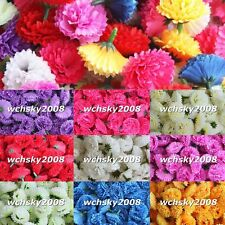 Beauty Artificial Carnation Silk Flowers Heads for Wedding Birthday Decorations