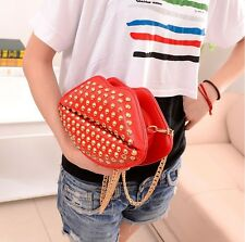 New Women's Lady Girl's Shoulder Bag PU Mouth Purse Evening Messenger Handbags