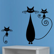 CAT animals wall sticker decal childrens nursery bedroom cats dogs art stickers