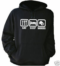 EAT SLEEP BADGERS HOODIE - ALL SIZES + COLS (Funny Silly Mad Animals Furry)