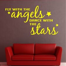 DANCE WITH THE STAR wall quote fly angels nursery sticker vinyl baby transfer