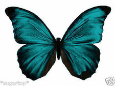 24 x Stunning TURQUOISE Colour Butterflies Edible Decorations Cup Cake Toppers
