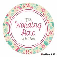 PERSONALISED Wedding Birthday Business Baby Party Favour Sticker Label   Prim