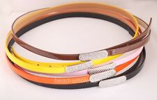 Free Ship Women's Girls Cute Candy Color Faux PU Leather Thin Belt