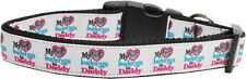My Heart Belongs to Daddy Adjustable Nylon Ribbon Pet Dog Collar