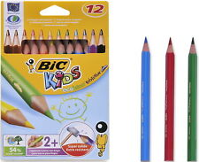 BIC ECOLUTIONS EVOLUTION 12  PAINTING TRIANGLE JUMBO COLORED PENCILS RECYCLED