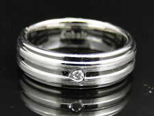 Mens Shiny Cobalt Faceted Wedding Engagement Band Ring 7 mm