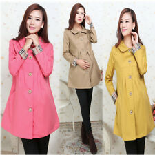 New Maternity Trench Coat Collared Elegang Trendy 3 Color 059
