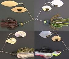 Bassdozer Spinnerbaits. MONSTER 3/4, 1, 1.5 oz. Twisted Wire Eyes