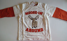 NWT GYMBOREE WINTER MOOSE MOOSE-IN AROUND DOUBLE SLEEVE TOP SHIRT