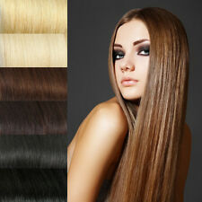 """14"""" 100g India Human Hair Extensions Weft Straight DIY free Clip in / Tape in"""