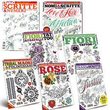 NEW Tattoo Sketchbook Flash: Names Script Numbers Rose Flowers Butterfly Tribal