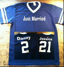 Just Married Custom Jersey T-shirts