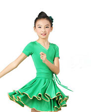 Kid's Child Latin Dance Showing Salsa Ballroom Dancewear Dress Dp049