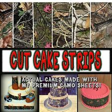 Cake Strips HIGH quality Edible Camouflage Sugar camoflage wraps wedding paper