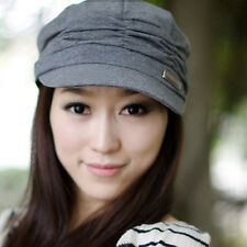 Hot sale fashion Women Korean Style Pleated Peaked Cap Hat Sunhat 3 Colors EP98