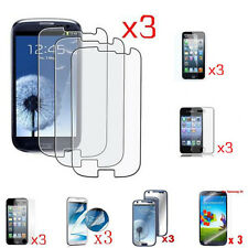 3X LCD Screen Protect Film For iPhone4 /5/Samsung Galaxy S4/I9500/S3/I9300/N7100