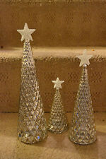 Twos Company Beautiful Light Up Christmas Trees, 3 Different sizes in a Set