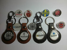 SHOTGUN COMPANY BADGES & KEYRINGS: BERETTA,ZOLI,  BROWNING, PERAZZI: 25 DESIGNS