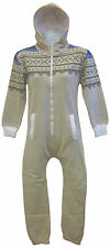 Kids Unisex Onesie Hoody Hooded All In One Piece Jumpsuit Sizes 7-13 years