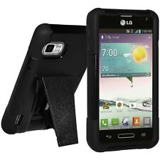 AMZER HARD SOFT DUAL LAYER CASE COVER + KICKSTAND FOR LG OPTIMUS F3 LS720