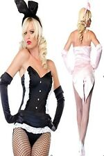 Sexy Adult Bunny Rabbit Girl Ladies Fancy Dress Up Party Halloween Mini Costume