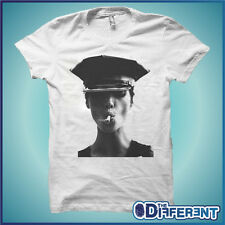 T-SHIRT SEXY KATE MOSS SMOKE CAPPELLO CAP THE HAPPINESS IS HAVE MY T-SHIRT NEW