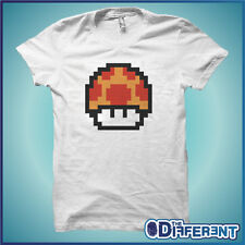 T-SHIRT MUSHROOM MARIO BROS VINTAGE GAME THE HAPPINESS IS HAVE MY T-SHIRT NEW