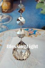 Two - Champagne - Lead Glass Crystal - 30mm Crystal Ball - Chandelier Prisms