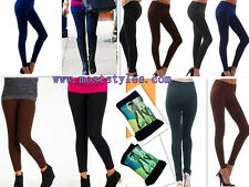 S/M/L/XL Women Sexy Solid Fleece Lined Thermal Thick Fall/Winter Leggings Tights