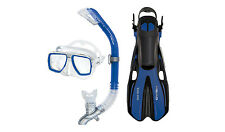 Head Tarpon/Barracuda Volo Mask Snorkel Fins Set Scuba Diving Snorkeling Blue