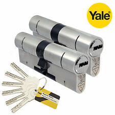 Yale Superior Keyed Alike Pair Anti Snap Security Euro Barrel Cylinder Door Lock