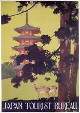 JAPAN TOURIST BUREAU by Hisui Sugiura - 1916 - Vintage Travel Poster SG4181
