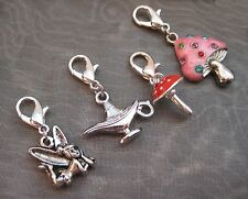 PICK YOUR CHARM Clip On Fairy Pixie Mushroom Toadstool Aladdin Magic Lamp