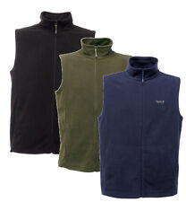 Rrp £18 Regatta Mens Fleece Waistcoat Gilet Tobias B/W Lightweight For Adventure