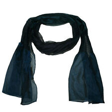 Scarf in polyester fabric with elasticated panels - purple or teal - BNIP (857)