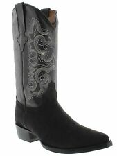 Men's nubuck western cowboy rodeo boots black leather riding dress comfort new