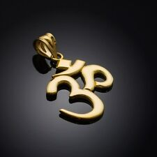Solid Gold Om Yoga Pendant