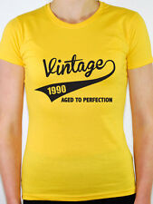 VINTAGE 1990 AGED TO PERFECTION -Birth Year/Birthday Gift Themed Women's T-Shirt