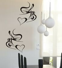 2 coffee cups cafe kitchen wall stickers restaurant vinyl decorative art Decals