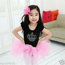 Baby Kids Girls Dancewear Chiffon Tutu dance wear Pettiskirt Princess Skirt