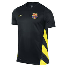 Nike FC Barcelona Official 2013-14 Soccer Training Jersey Brand New Black/Yellow