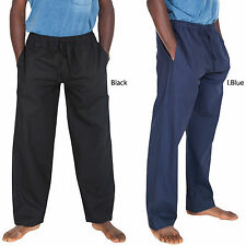 Men's Hemp Cotton Natural Eco Lounge Pants W/ W Elastic Waist & Drawstring-2175