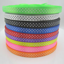 10Yards 3/8 9mm Polka Dot Ribbon Satin Craft Supplies pick lots colors craft NEW