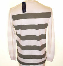 Bnwt Mens Fcuk Linen Mix Striped Beano Jumper Sweater French Connection RRP£60