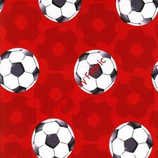 Soccer/Futbol Red - All Stars Collection Benartex 5871-10 (sold by the 1/2 yard)