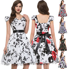 SUMMER VINTAGE Style Rockabilly Swing Party 50s pinup HOUSEWIFE Dress PLUS SIZE