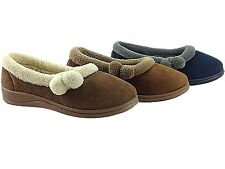 Ladies Dr Lightfoot Slippers Wider Fit Memory Foam Luxury Comfort Slip On Shoes