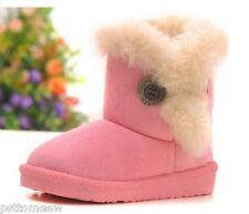 HOT Boy / girls Antislip child warm shoes kids Children's Snow boots 4 colors