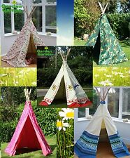 GARDEN GAMES WIGWAM - CLASSIC COWBOY, FLOWERS, CAMOUFLAGE, PINK HEARTS & AZTEC